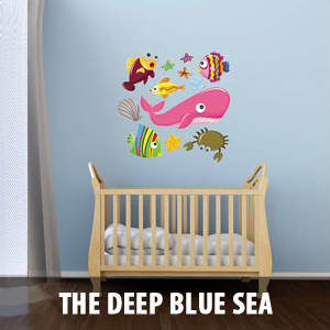 deep blue sea Wall Decals