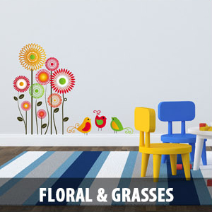 floral grasses Wall Decals