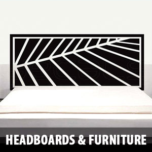 headboards furnitures Wall Decals