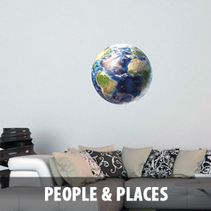 people places Wall Decals