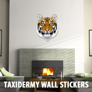 taxidermy wall Wall Decals