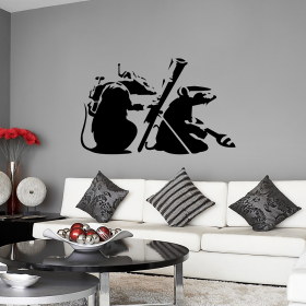 Beau Terror Rats Wall Sticker