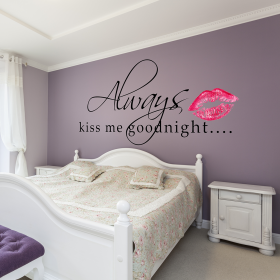 Always Kiss Me Goodnight Wall Sticker Part 80