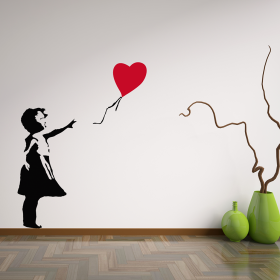 Banksy Balloon Girl & Banksy Wall Stickers and Removable Banksy Wall Decals