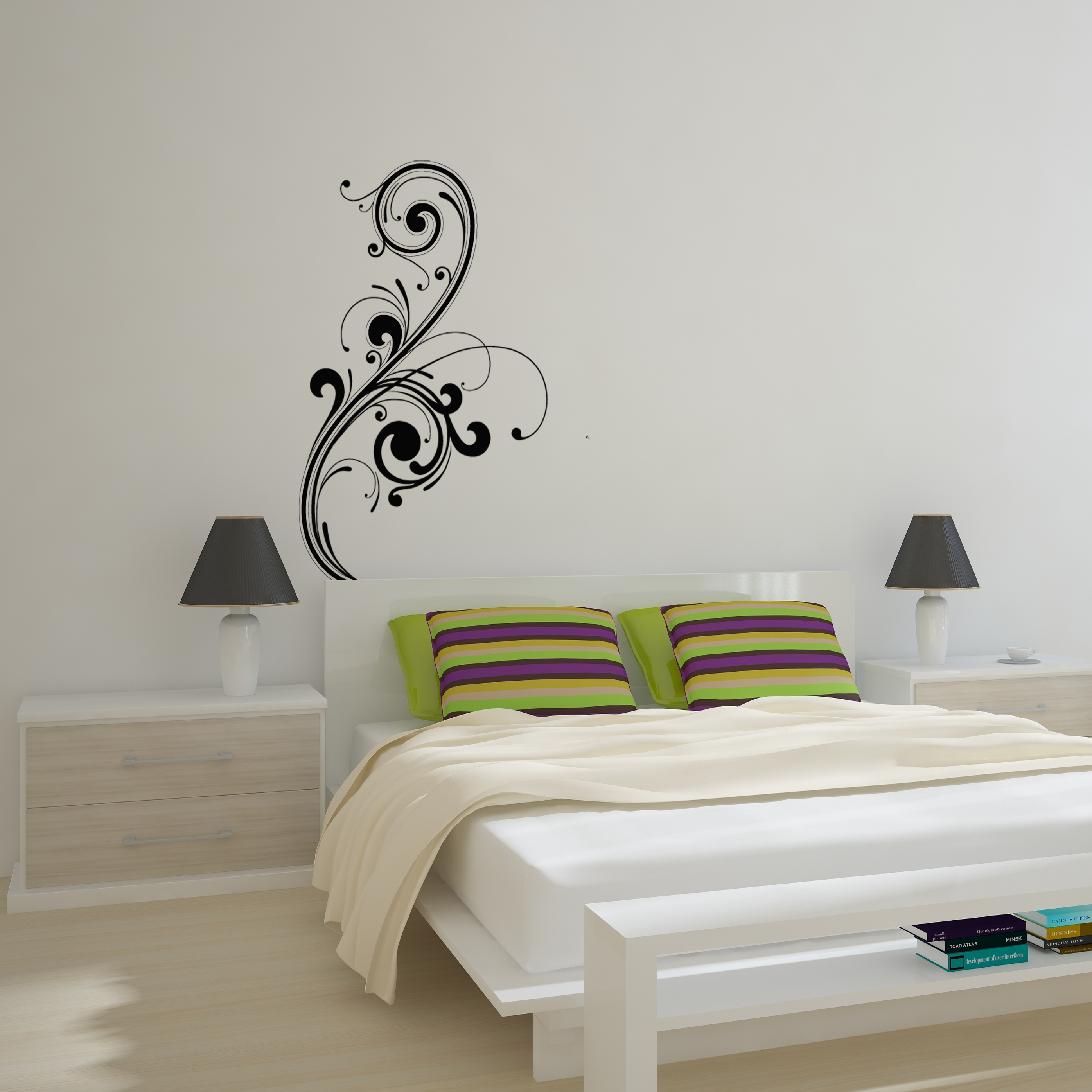 abstract art wall decal removable wall stickers and wall decals. Black Bedroom Furniture Sets. Home Design Ideas