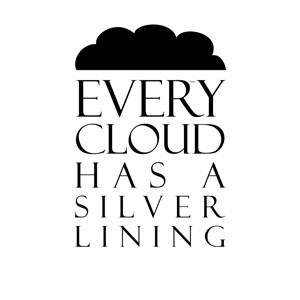 Every Cloud Has A Silver Lining Wall Sticker Removable