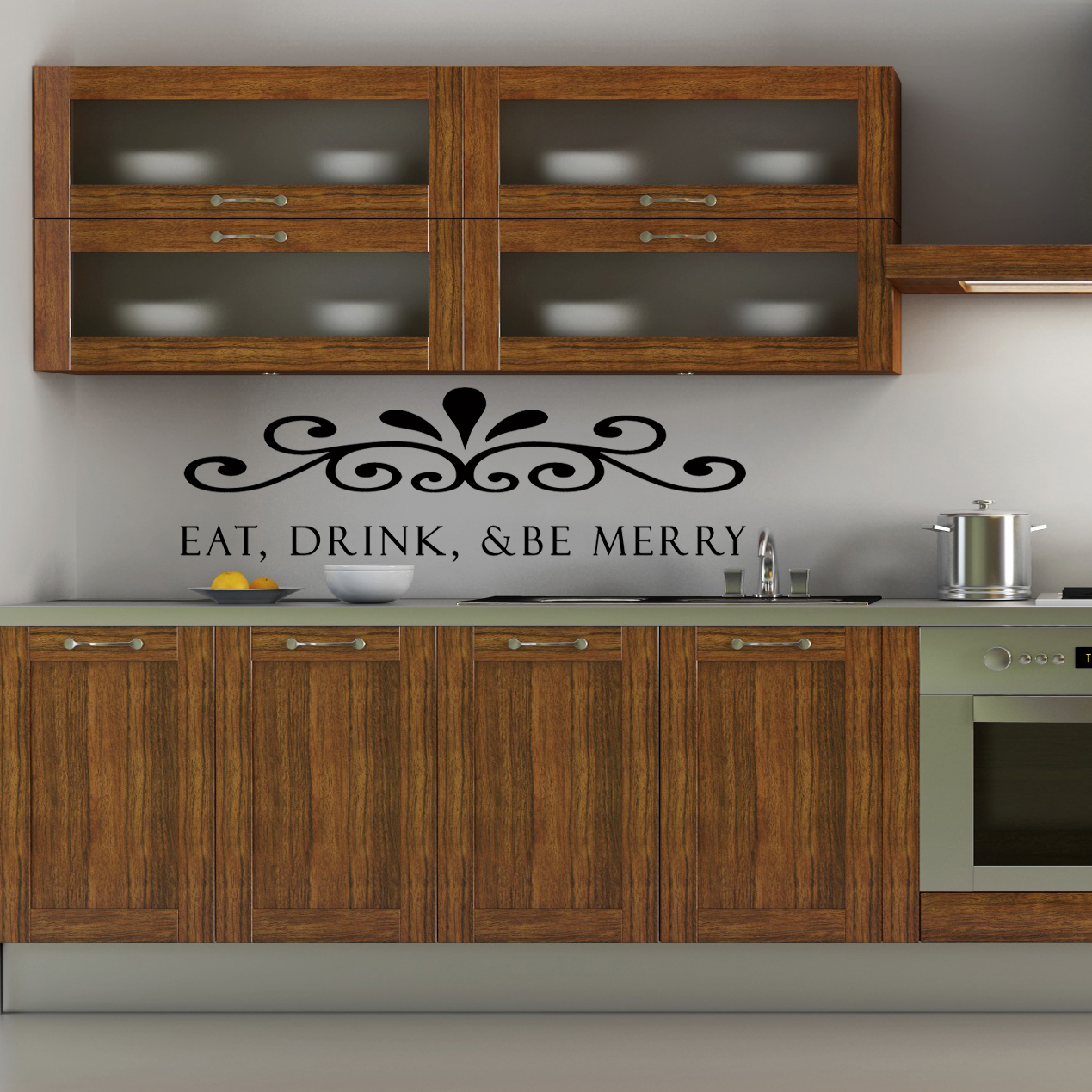 Eat Drink Amp Be Merry Wall Sticker Removable Wall