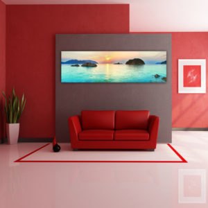 panoramic wall mural