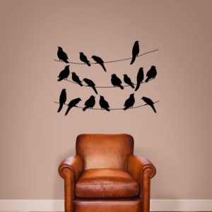 3 birdcages wall art