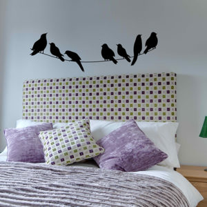 birds on a line wall sticker