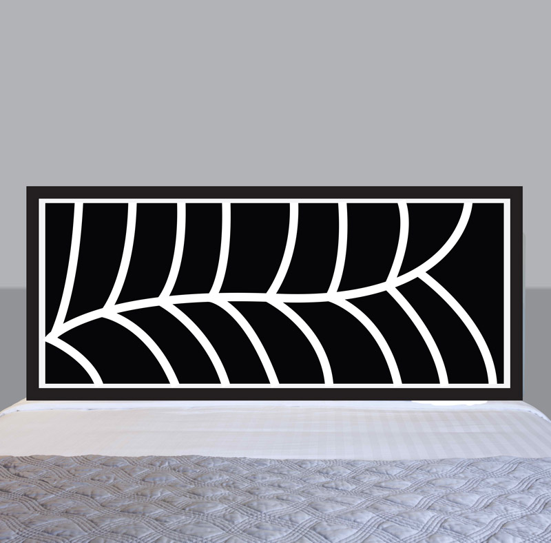 leaf headboard sticker removable wall stickers and wall elegant headboard wall decal submited images