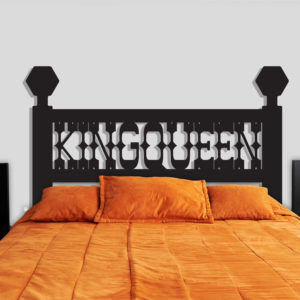King & Queen headboard decal