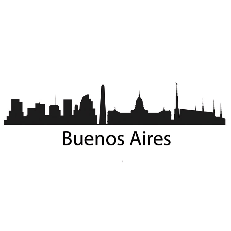 Buenos Aires Skyline Decal