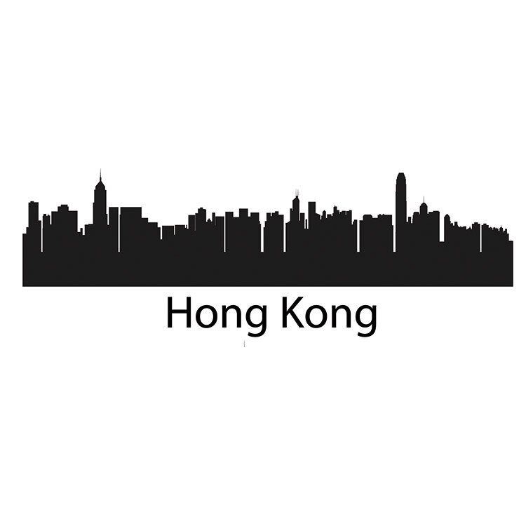 Hong Kong Skyline Wall Decal