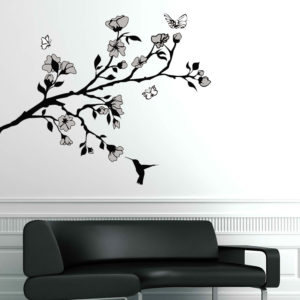 Hummingbird wall sticker