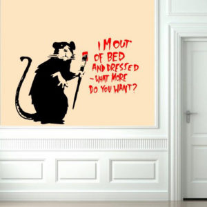 Banksy I'm out of bed