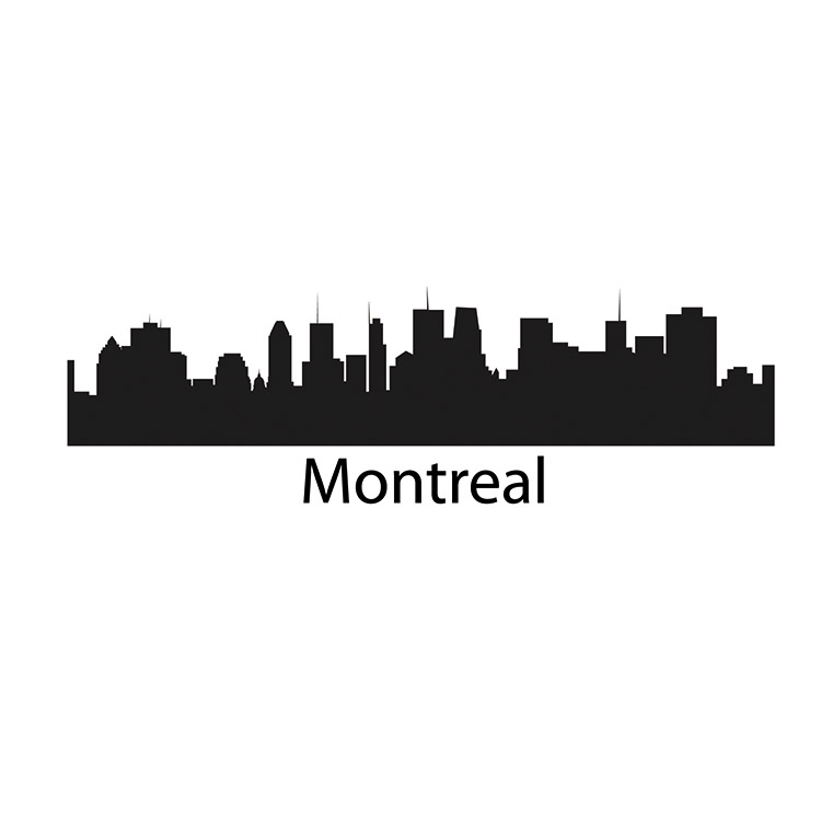 Montreal Skyline Decal