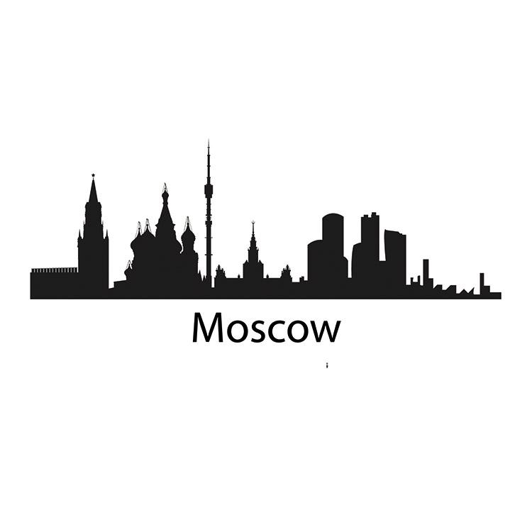 Moscow Skyline Decal