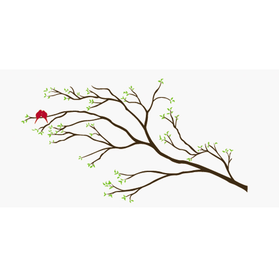 Red Love Birds Removable Wall Stickers And Wall Decals