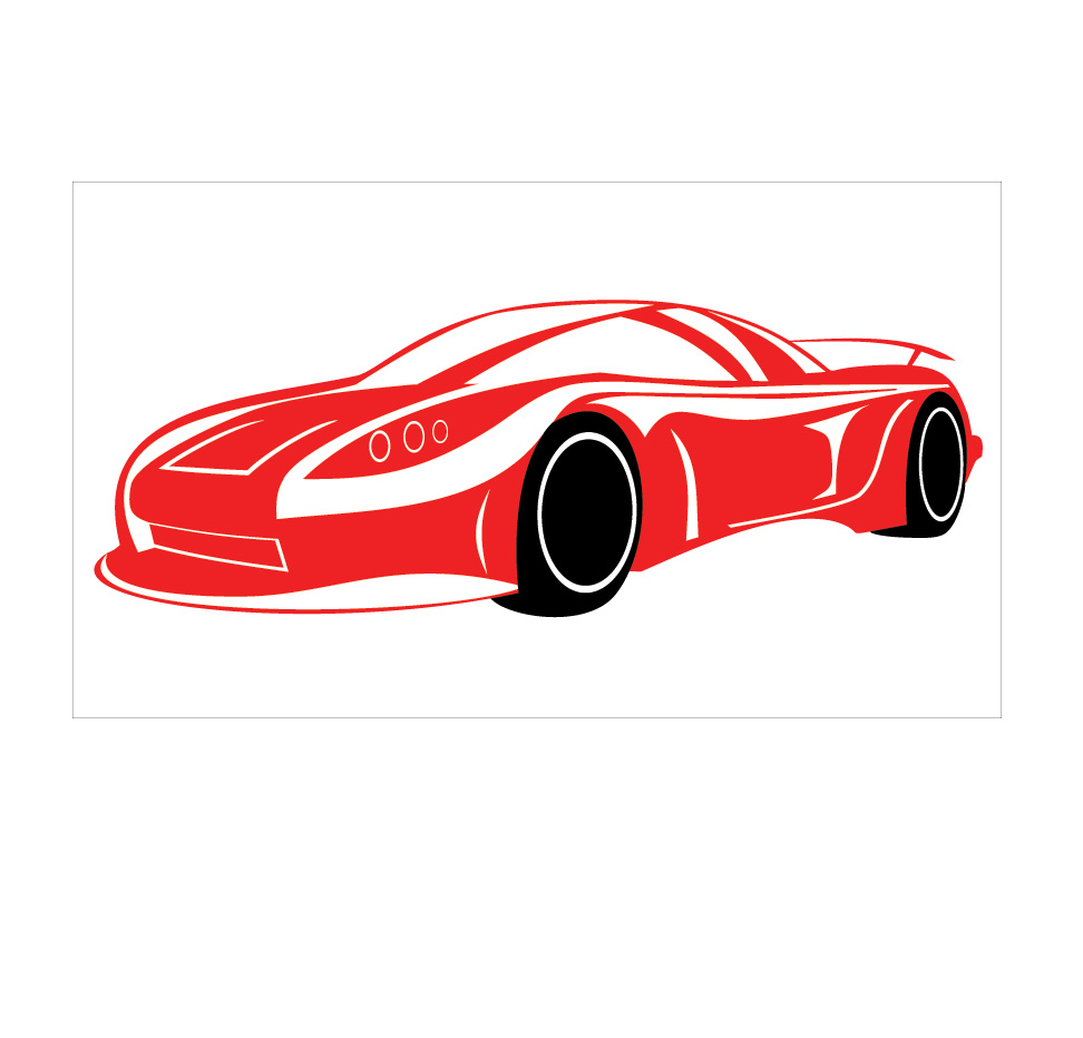 red sports car wall decal removable wall stickers and wall decals. Black Bedroom Furniture Sets. Home Design Ideas
