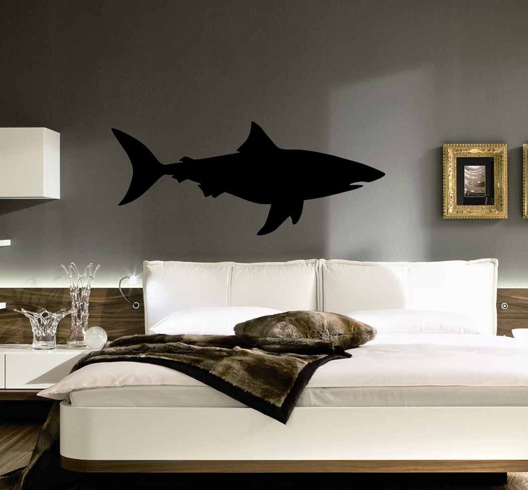 Bull shark decal removable wall stickers and wall decals bull shark decal shark wall sticker amipublicfo Choice Image