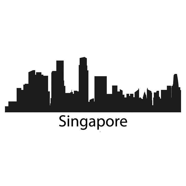 singapore skyline wall sticker liverpool skyline vinyl wall sticker