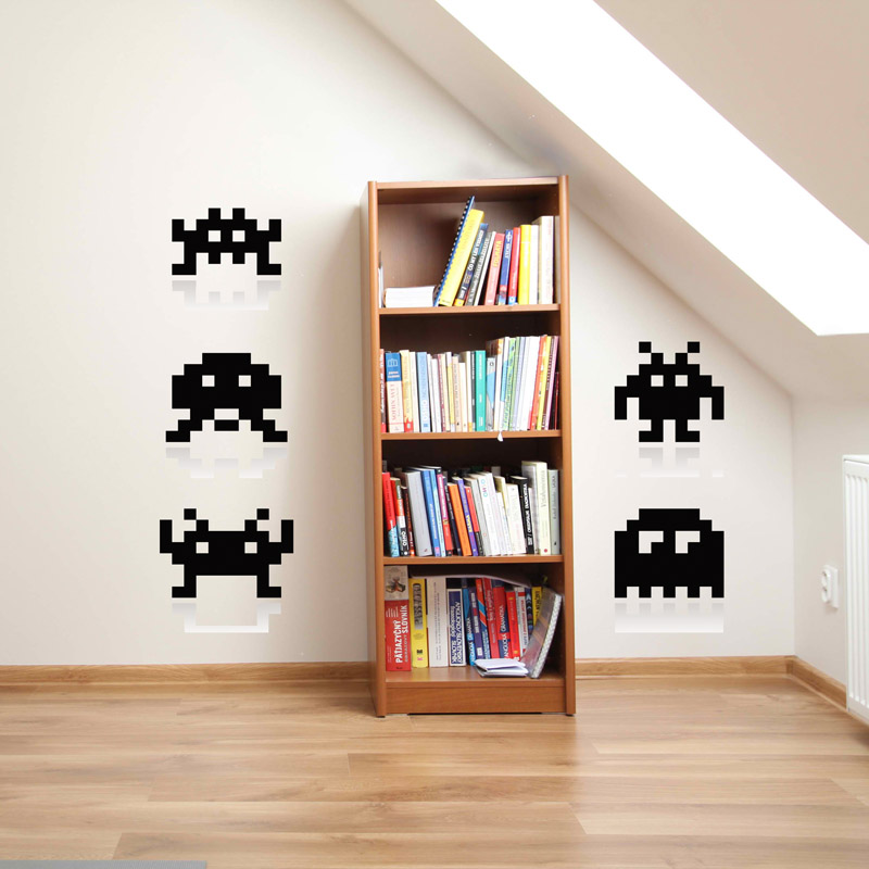 retro games wall sticker removable wall stickers and