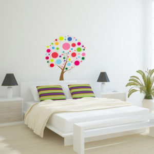 colourful tree decal