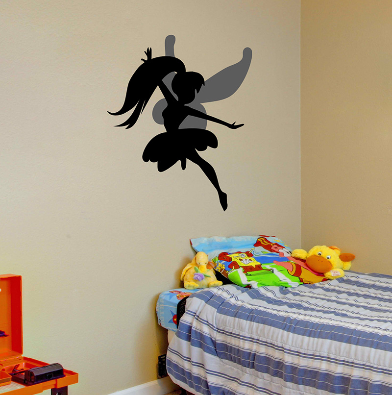 Tinkerbell Flying Removable Wall Stickers And Wall Decals