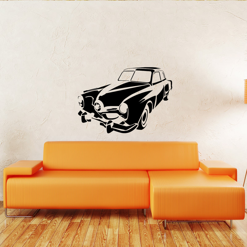 vintage car wall sticker removable wall stickers and vintage tree wall stickers by littleprints