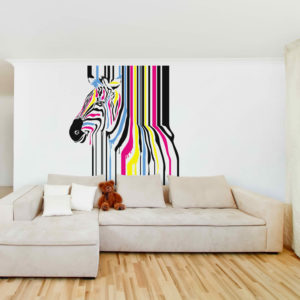 Abstract Paint Zebra