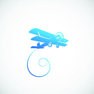 Blue Aeroplane Wall Sticker Removable Wall Stickers And