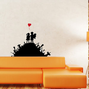 kids on guns hill wall sticker