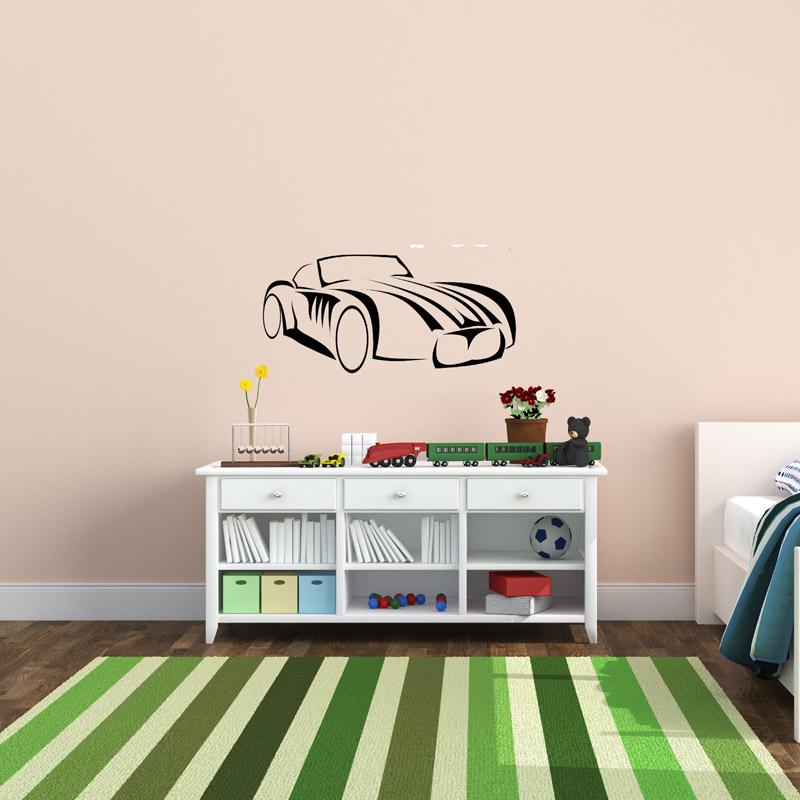 classic sports car wall sticker removable wall stickers