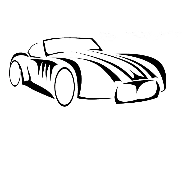 classic sports car decal