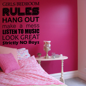 28 Girls Bedroom Rules Wall Sticker Girls Bedroom