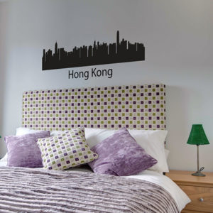 Hong Kong skyline decal