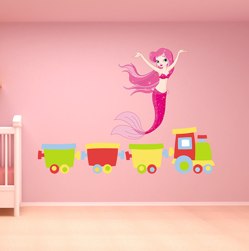 mermaid wall decal removable wall stickers and wall decals fun to see mermaid themed wall decal amp reviews wayfair