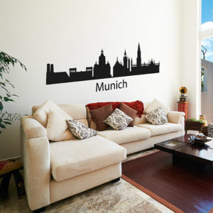 Munich skyline decal