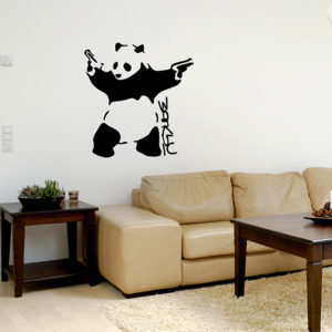 Panda with Pistols Banksy Decal