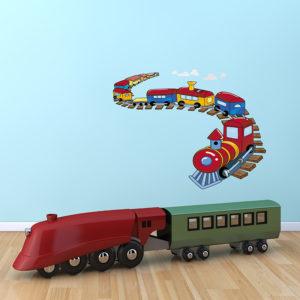 Train on a track wall sticker