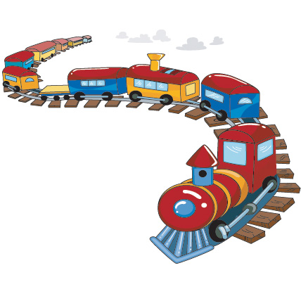 Train On A Track Wall Sticker Removable Wall Stickers