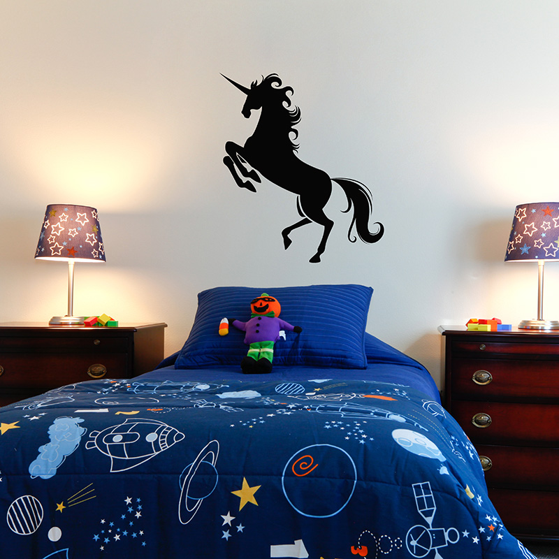 Unicorn Silhouette Wall Sticker Removable Wall Stickers