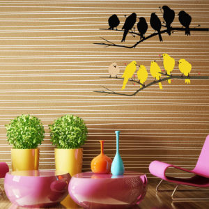 yellow birds decal