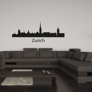 Zurich Silhouette Wall Decal
