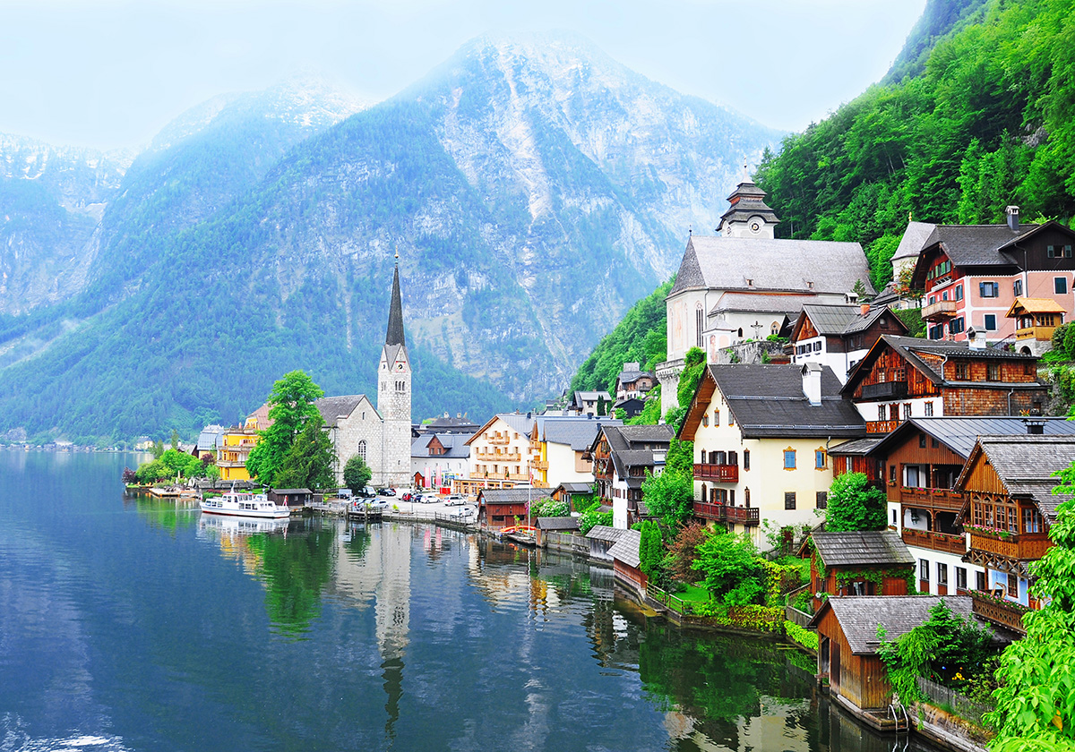 Austrian Alps wall sticker