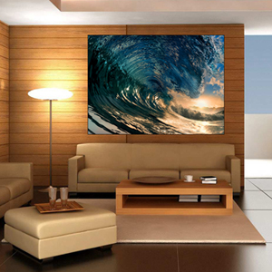 Crystal waves surfing wall sticker