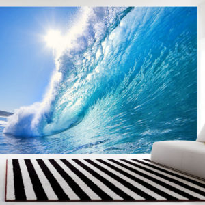 surf art wall mural