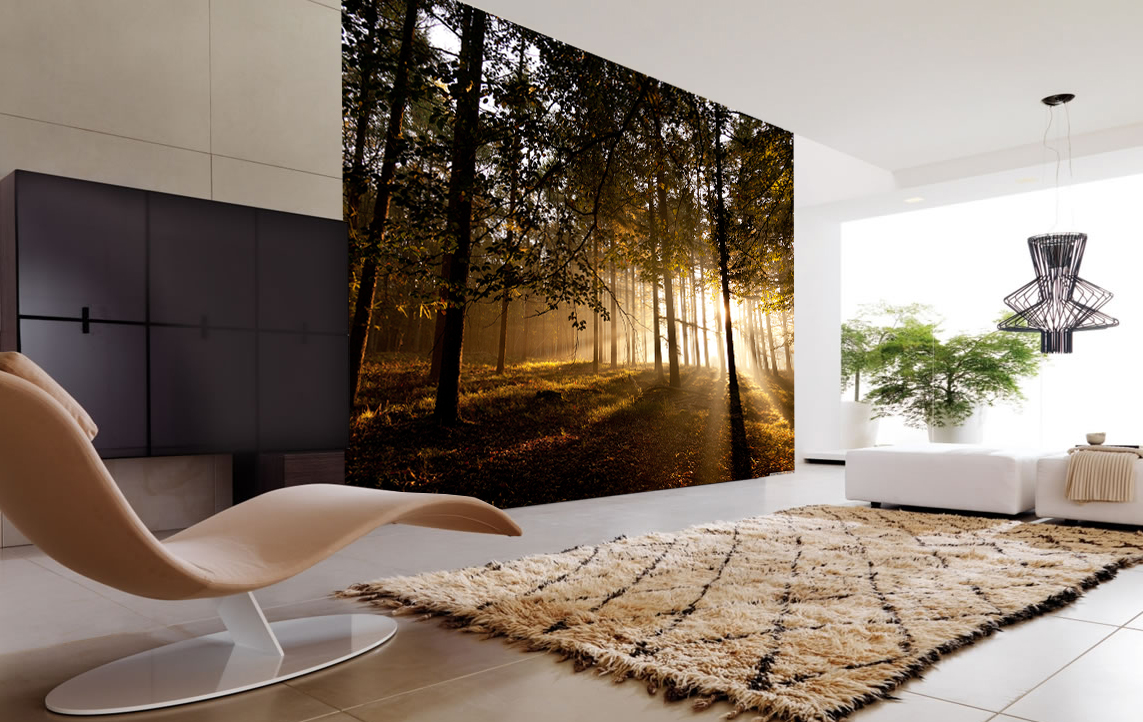 mystical forest wall mural and removable wall decal