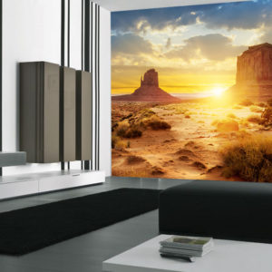desert sunset wall mural